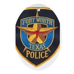 Fort Worth Police Oval Ornament