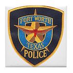Fort Worth Police Tile Coaster
