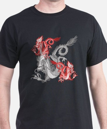 Chinese Red Dragons T-Shirt