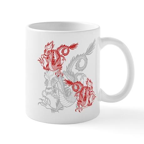 Chinese Red Dragons Mug