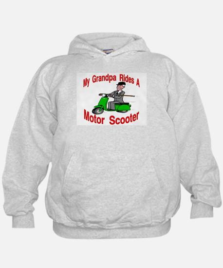 Grandpa Rides A Scooter Hoodie