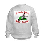 Grandpa Rides A Scooter Kids Sweatshirt