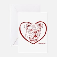 Bully Heart Red Greeting Cards (Pk of 10)