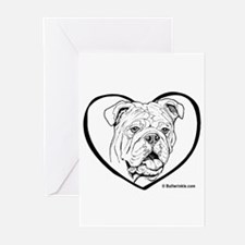 Bully Heart Black Greeting Cards (Pk of 10)