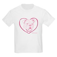Bully Heart Pink Kids T-Shirt