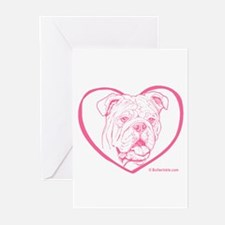 Bully Heart Pink Greeting Cards (Pk of 10)