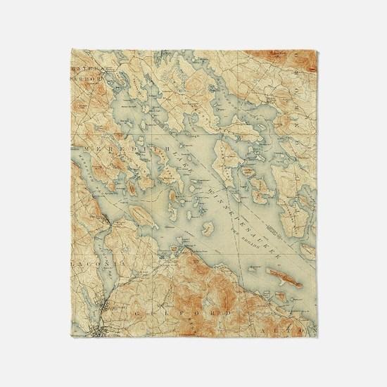 Map Throw Blanket
