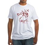 Bully Bulldog Logo Red Fitted T-Shirt