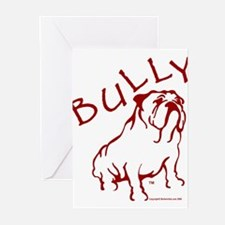 Bully Bulldog Logo Red Greeting Cards (Package of