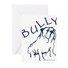 Bully Bulldog Blue Greeting Cards (Pk of 10)