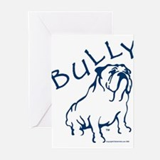 Bully Bulldog Blue Greeting Cards (Pk of 10)