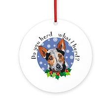 Red Heeler Dog Christmas Ornament