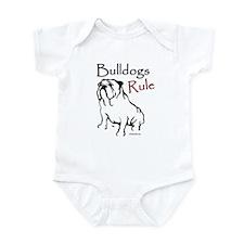 Bulldogs Rule Black Infant Bodysuit