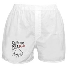 Bulldogs Rule Black Boxer Shorts
