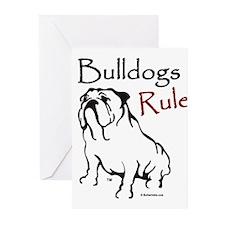 Bulldogs Rule Black Greeting Cards (Pk of 10)
