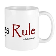 """Bulldogs Rule"" Red Mug"