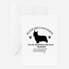 Australian Silky Terrier Daddy designs Greeting Ca