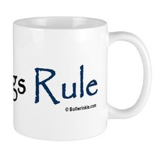 """Bulldogs Rule"" Blue Mug"