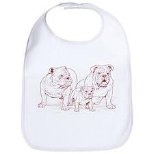 Bulldog Family Red Bib