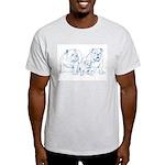Bulldog Family Blue Ash Grey T-Shirt