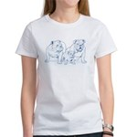 Bulldog Family Blue Women's T-Shirt