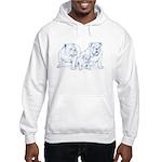 Bulldog Family Blue Hooded Sweatshirt