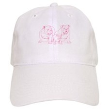 Bulldog Family Pink Baseball Cap