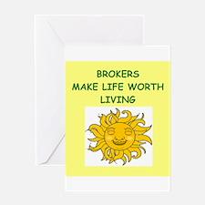 broker Greeting Card