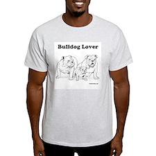 Bulldog Lover Red Ash Grey T-Shirt