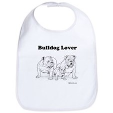 Bulldog Lover Red Bib