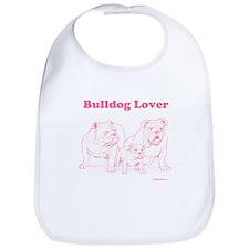 Bulldog Lover Pink Bib