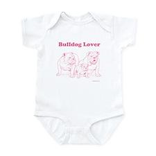 Bulldog Lover Pink Infant Bodysuit