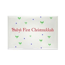 Babys First Christmukkah Rectangle Magnet