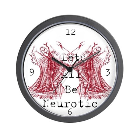 Lets All Be Neurotic Logo Clock