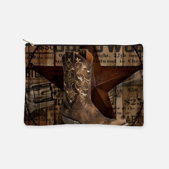 western cowboy Makeup Pouch