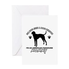 American foxhound Mommy designs Greeting Card