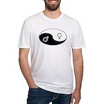 """Yin Yang / Male Female"" Fitted T-Shirt"