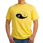 """""""Yin Yang / Male Female"""" Yellow T-Shirt"""