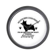 Australian Silky Terrier Mommy designs Wall Clock
