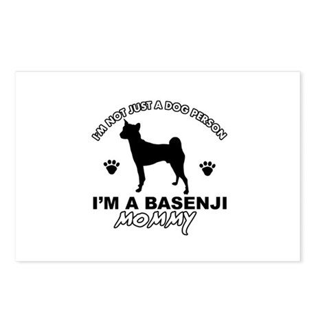 Basenji Mommy designs Postcards (Package of 8)
