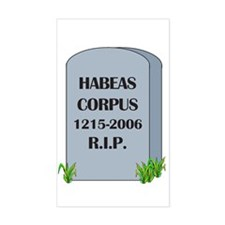 RIP Habeas Corpus Rectangle Decal