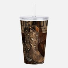 western cowboy Acrylic Double-wall Tumbler