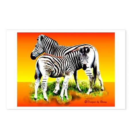 Zebra Mother & Baby - Postcards (Package of 8)