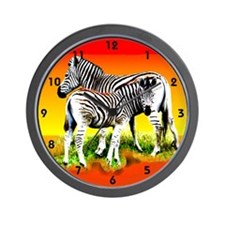 Zebra Mother & Baby - Wall Clock