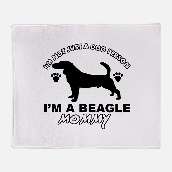 Beagle Mommy designs Throw Blanket