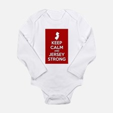 Keep Calm Jersey Strong Body Suit