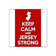 Keep Calm Jersey Strong Sticker