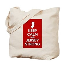Keep Calm Jersey Strong Tote Bag