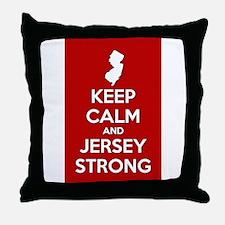Keep Calm Jersey Strong Throw Pillow