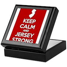 Keep Calm Jersey Strong Keepsake Box